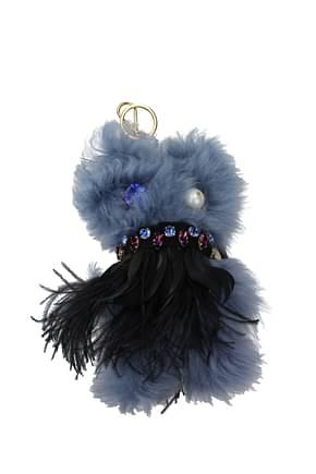Miu Miu Key rings Women Fur  Multicolor