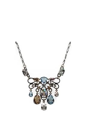 Lanvin Halsketten Damen Messing Silber