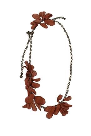 Lanvin Necklaces Women Brass Brown
