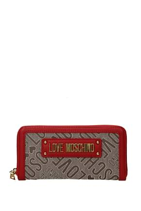 Love Moschino Wallets Women Fabric  Beige Red
