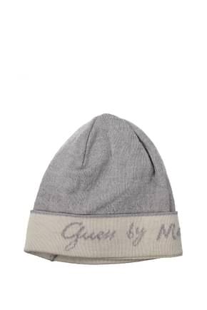 Guess Marciano Hats Women Virgin Wool Gray