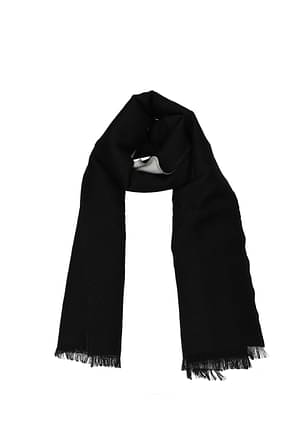 Valentino Scarves Men Wool Black