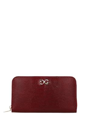 Dolce&Gabbana Wallets Women Leather Red Ruby