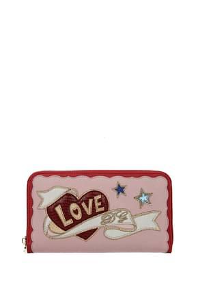 Dolce&Gabbana Wallets Women Leather Pink