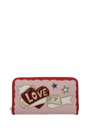 Dolce&Gabbana Wallets Women Leather Pink