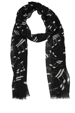 Saint Laurent Foulards note Homme Laine Noir