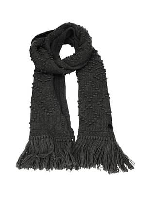 Saint Laurent Scarves Women Wool Gray