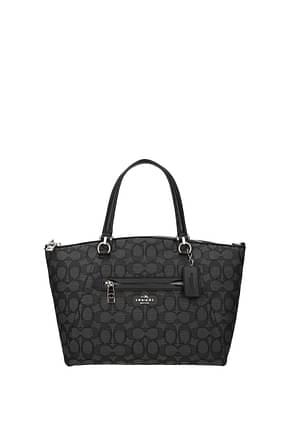 Coach Handbags Women Fabric  Gray Black