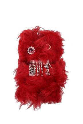 Miu Miu Key rings Women Fur  Red