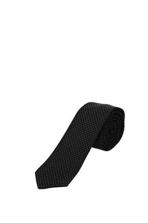 Hugo Boss Ties tailored Men Wool Black