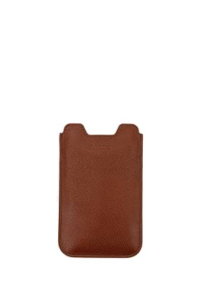 Bally Selfphone Cover branto Men Leather Brown