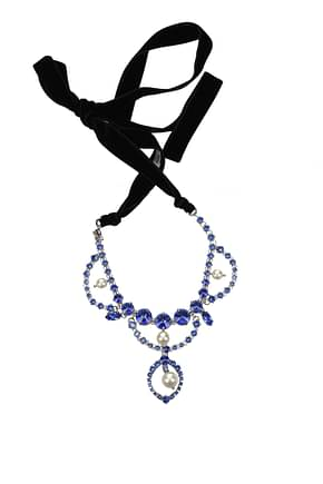 Miu Miu Necklaces Women Stainless Steel Blue
