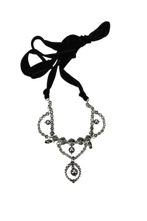 Miu Miu Necklaces Women Stainless Steel Gray