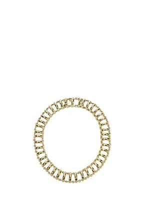 Balenciaga Necklaces Women Metal Gold