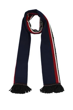 Valentino Scarves Men Wool Blue