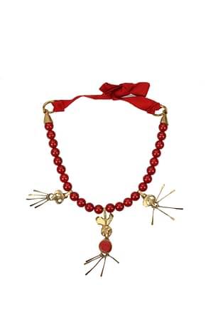 Valentino Garavani Necklaces Women Metal Red