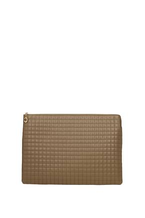 Celine Clutches Women Leather Brown