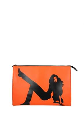 Calvin Klein  Clutches est 1978 Women Leather Orange