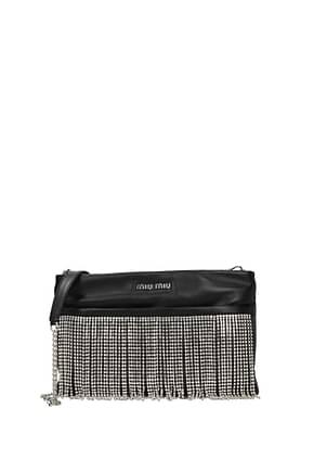 Miu Miu Crossbody Bag frange Women Leather Black
