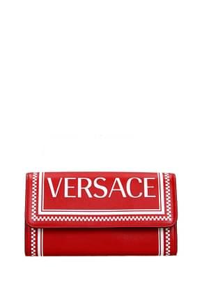 Versace Portafogli Donna Pelle Rosso