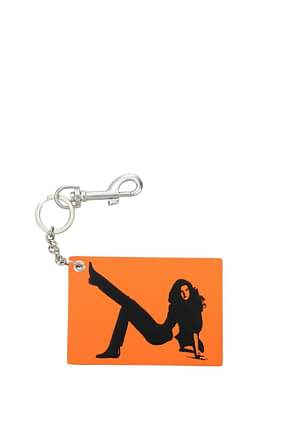 Calvin Klein  Key rings est 1978 Women Leather Orange