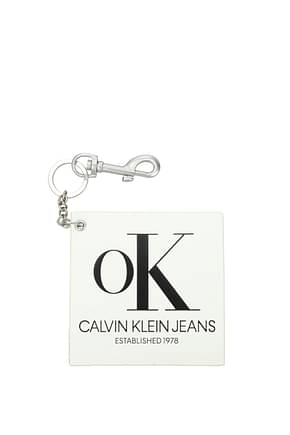 Calvin Klein  Key rings est 1978 Women Leather White