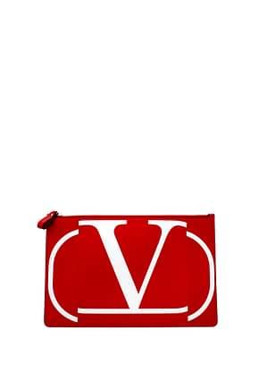 Valentino Garavani Clutches Women Leather Red