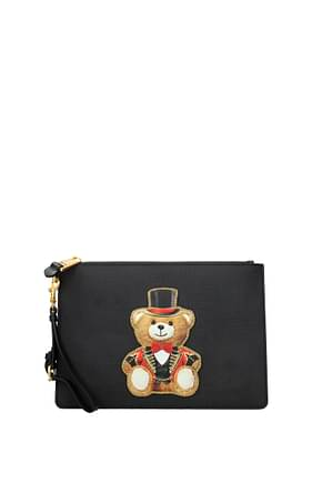 Moschino Clutches Women Leather Black