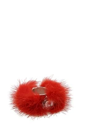 Fendi Ringe Damen Metall Rot