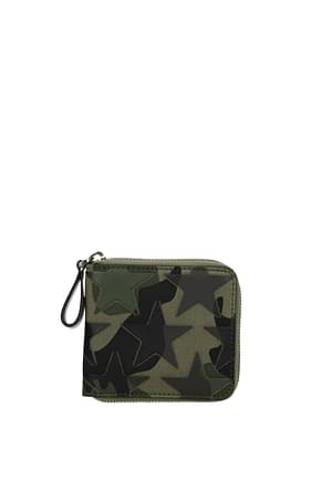 Valentino Garavani Wallets Men Fabric  Green