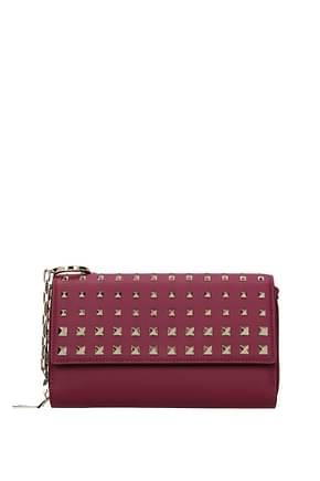 Valentino Garavani Wallets Women Leather Violet