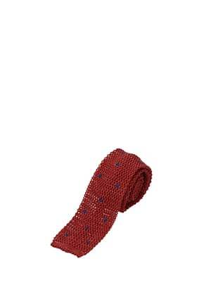 Barba Ties Men Cotton Red