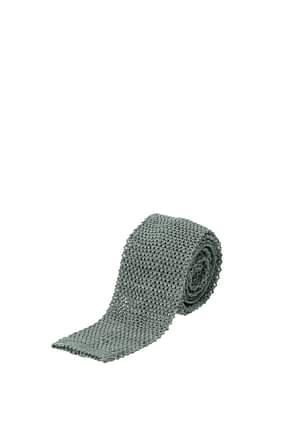 Barba Krawatten Herren Baumwolle Grau Nebel