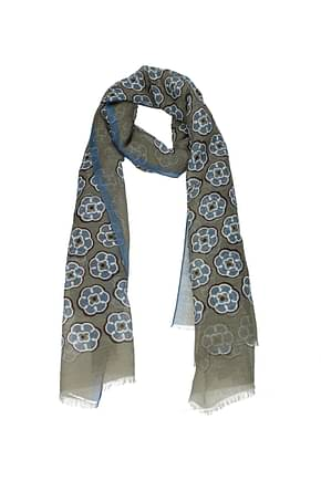 Barba Foulards Damen Baumwolle Grau Blau