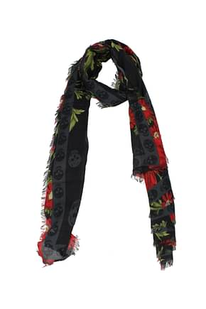 Alexander McQueen Foulard Women Modal Black