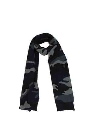 Valentino Scarves Men Virgin Wool Multicolor