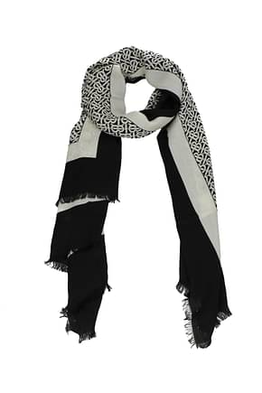 Burberry Scarves Women Cashmere Black Vanilla