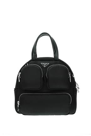 Prada Handbags Women Patent Leather Black