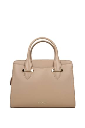 Salvatore Ferragamo Handbags Women Leather Beige
