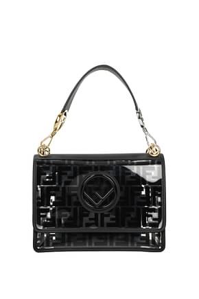 Fendi Handbags kan  Women Polyurethane Black