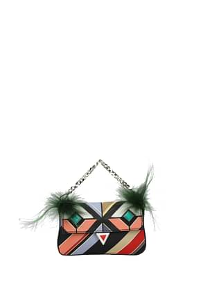 Fendi Handbags micro baguette Women Leather Multicolor