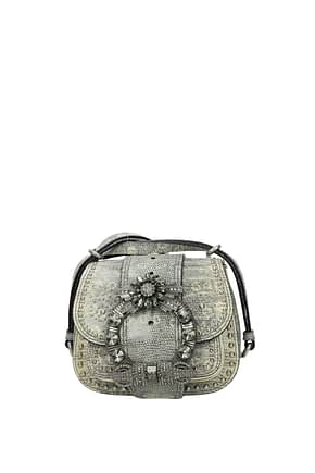 Miu Miu Shoulder bags Women Leather Gray