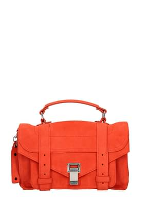 Proenza Schouler Handtaschen Damen Wildleder Orange