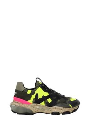 Valentino Garavani Sneakers Men Leather Green Fluo Yellow