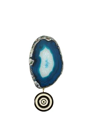 Givenchy Geschenk brooch agate Damen Messing Blau