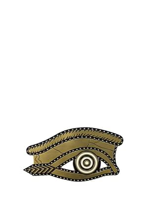 Givenchy Geschenk egyptian eye brooch Damen Messing Gold