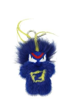 Fendi Llaveros bug-kun Mujer Visón Azul marino