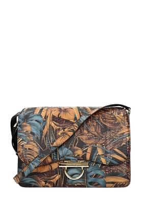 Salvatore Ferragamo Crossbody Bag joanne Women Leather Snake Multicolor