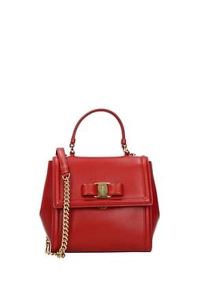 Salvatore Ferragamo Crossbody Bag carrie Women Leather Red