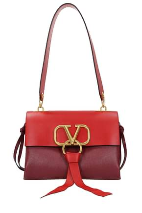 Valentino Garavani Shoulder bags Women Leather Red Wine